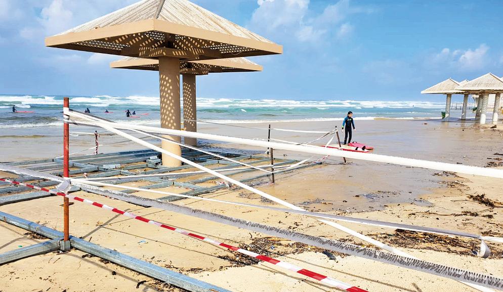 העבודות בחוף פולג בנתניה