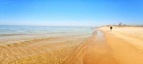 חוף פולג לפני הזפת