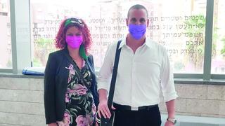 גיא שחר ומורן גנון בבית המשפט