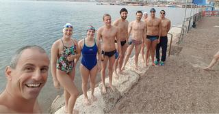 נבחרת ישראל לשחייה ארוכה (צילום: אורי סלע)
