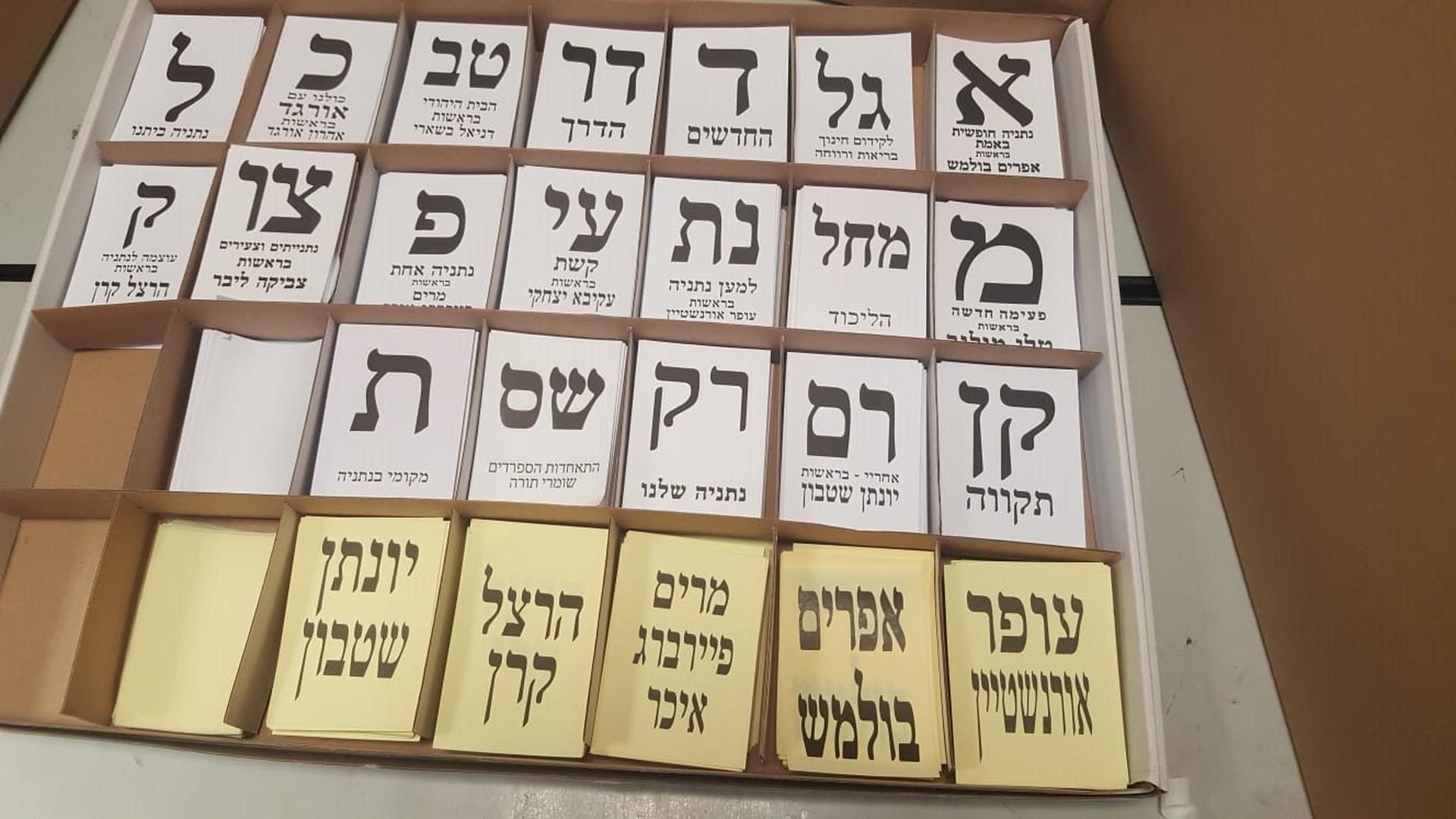 8 - כל רישמות המועמדים בנתניה   צילום: ניר איסקוב