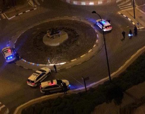המשטרה בזירת האירוע בשכונת עיר ימים | צילום: שיתוף קבוצת החדשות