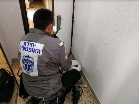 נחמיה ארלנגר בעבודה | צילום: דוברות איחוד הצלה