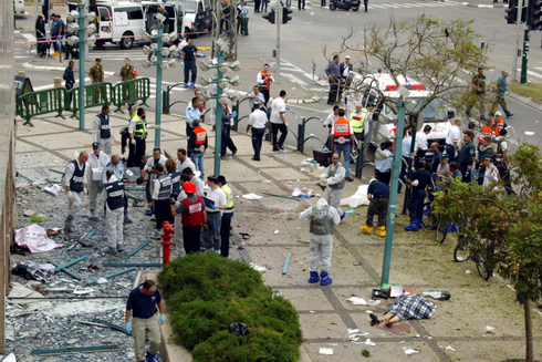 הפיגוע בנתניה ב-2005. צילום: מיכאל קרמר