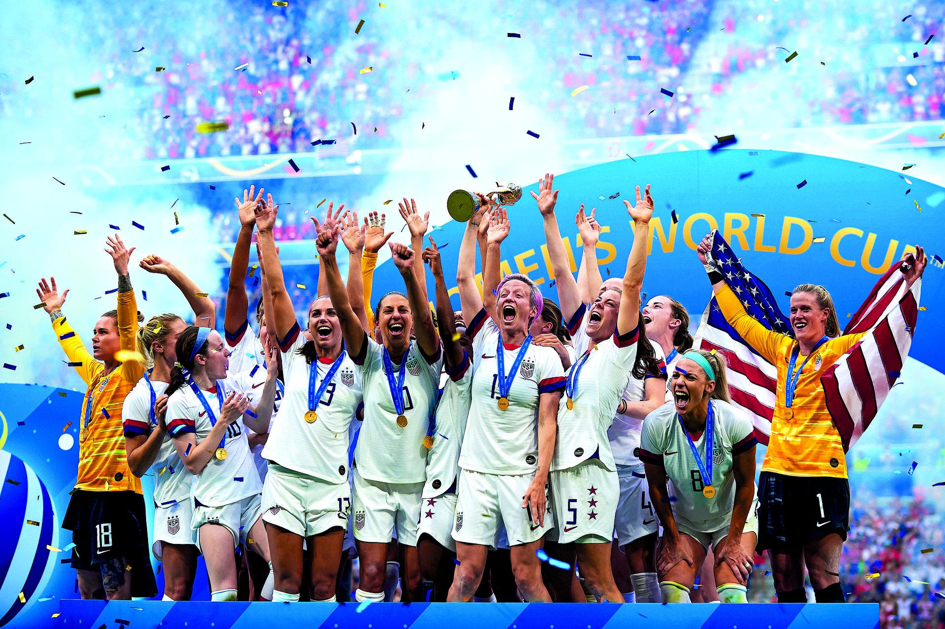 נבחרת ארצות הברית אחרי הזכיה במונדיאל | צילום: ShutterStock