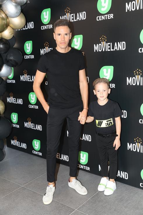 ינאי פרישר-גוטמן והבן רוי בהשקת קולנוע מובילנד פולג. צילום: רפי דלויה